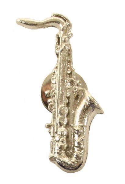Anstecker Saxophon silbern
