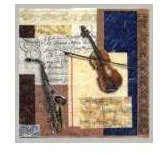 Lunchservietten Saxophon und Geige mit Noten