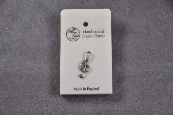 """Pin """"clef"""" Pewter"""