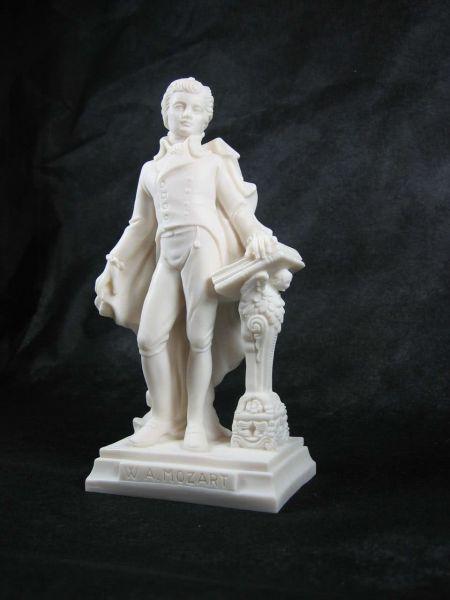 Marmorstatue W.A. Mozart ~16cm hoch