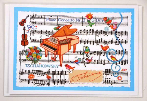 Klappkarte Piano Concerto No. 2 (Tschaikowsky)
