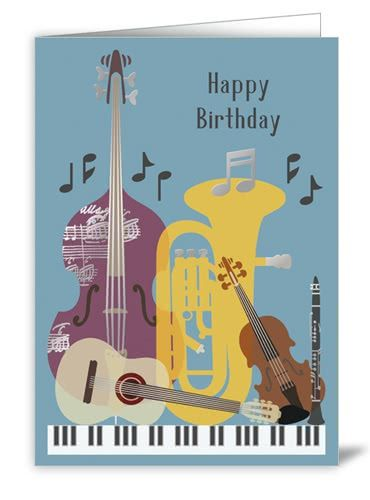 Klappkarte Happy Birthday classico