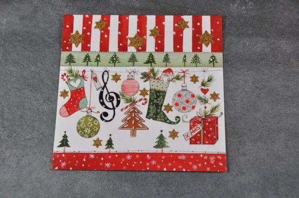 Weihnachtspostkarte X-MAS