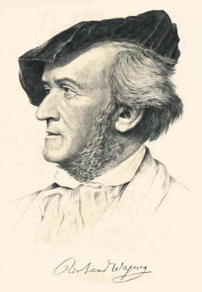 Klappkarte Richard Wagner