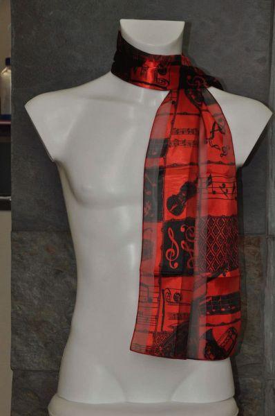 Schal Classic Rot-Schwarz