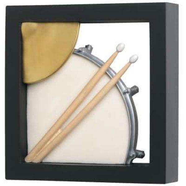 Wandschmuck Snare Drum / Hi-Hat (gerahmt)