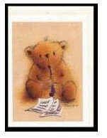 Klappkarte Teddy mit Klarinette