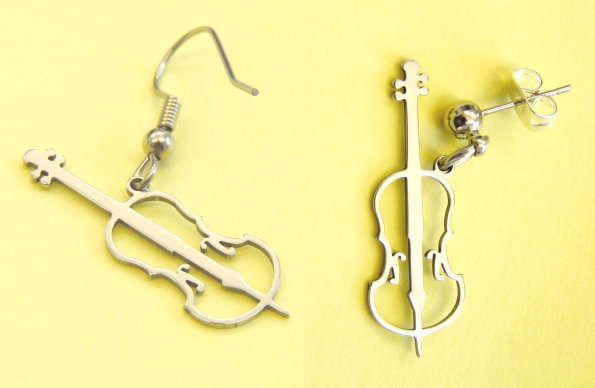 Ohrhänger Cello Steel Desgin