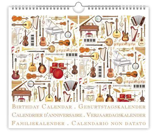 Geburtstagskalender Musikinstrumente