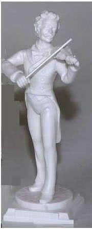 Marmorstatue J. Strauss ~27cm hoch