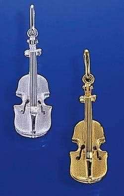 Violine als Brosche
