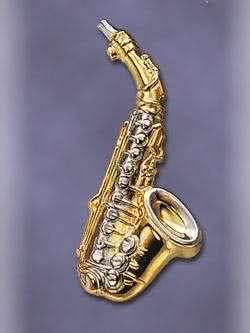 Anstecker Saxophon groß
