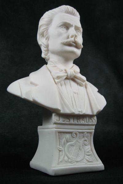 Marmorbüste J. Strauß