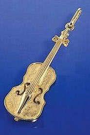 Violine (groß) als Brosche