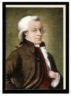 Kunst-Klappkarte Wolfgang Amadeus Mozart