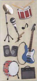 Aufkleber Rockinstrumente