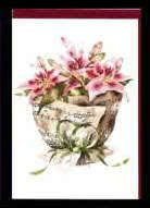 Klappkarte Notenblatt mit Lilien