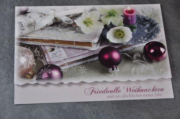 Doppelkarte Friedvolle Weihnachten