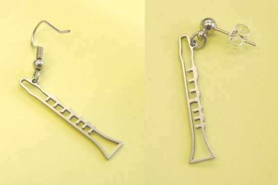 Ohrhänger Klarinette Steel Design