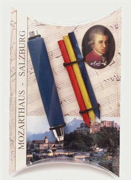 Mozart-Set mit Bleistifthalter und 4 Bleistiftminen