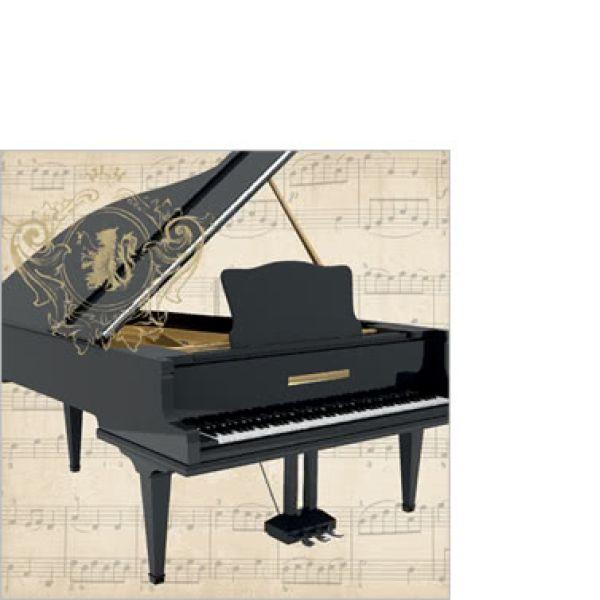 Cocktailserviette Concerto Piano