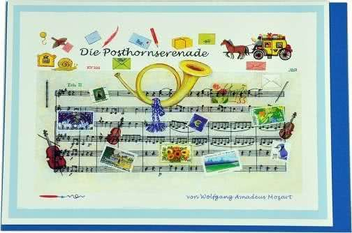 Klappkarte Mozarts Posthornserenade