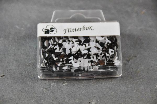 schwarz weiss Flitterbox