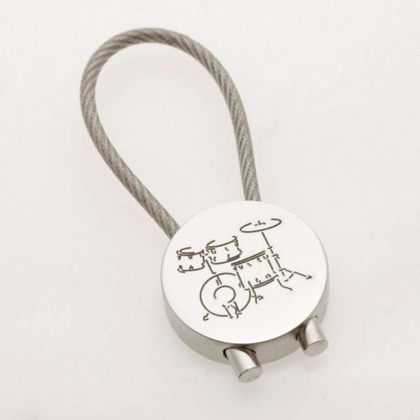 """Key Fob """"Drums"""" chrome-plated"""