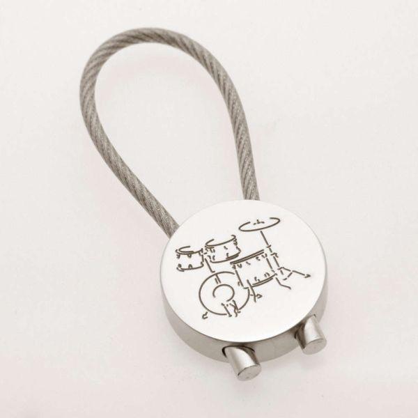 Schlüsselanhänger Schlagzeug verchromt