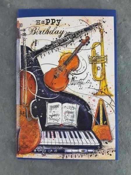 Doppelkarte Happy Birthday Motiv klassische Musik