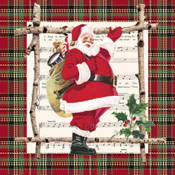 Lunchservietten Chalet Santa Claus