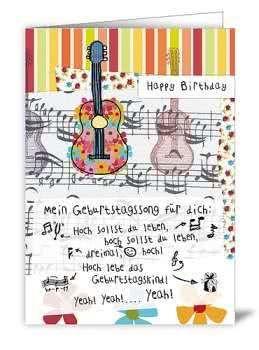 Klappkarte Mein Geburtstagssong für Dich!