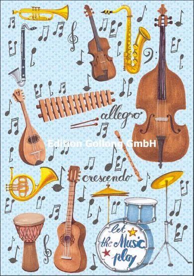 Doppelkarte Let the Music play
