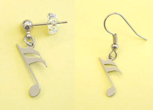 Ohrhänger 16tel Note Steel Design
