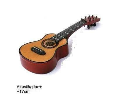 Miniatur - Akustikgitarre ~17cm
