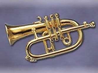 Anstecker Flügelhorn ca. 30mm lang