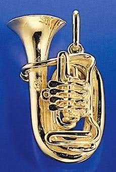 Bass-Tuba 4 Ventile als Brosche