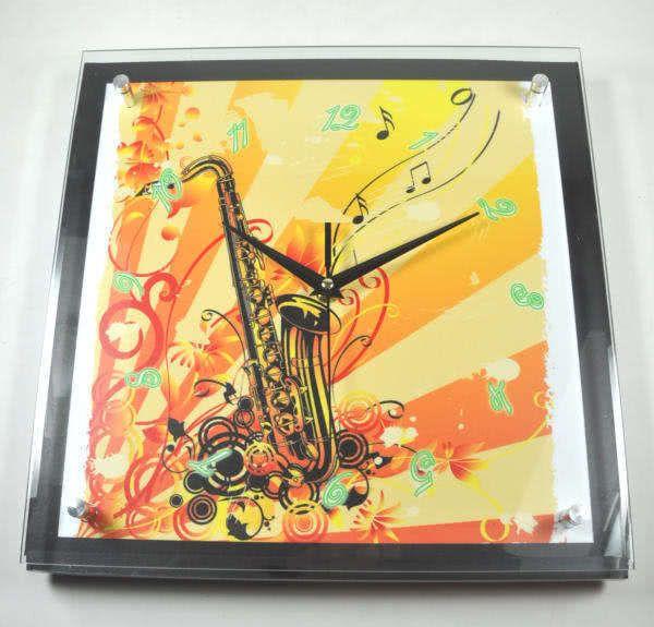 Wanduhr Diana - Saxophon