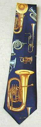 Krawatte Blasinstrumente dunkelblau