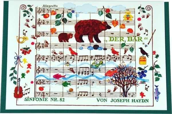 Klappkarte Haydns Sinfonie Nr.82 - Der Bär
