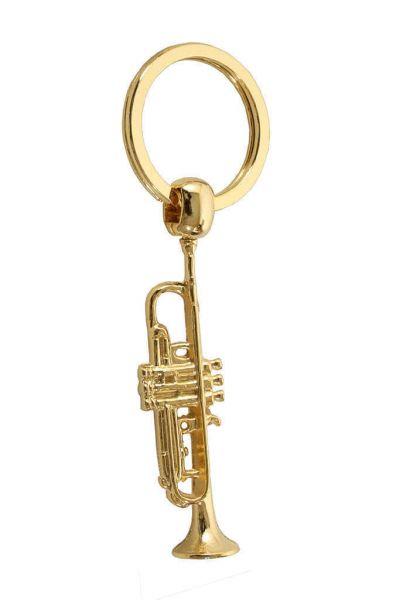 Schlüsselanhänger Trompete golden