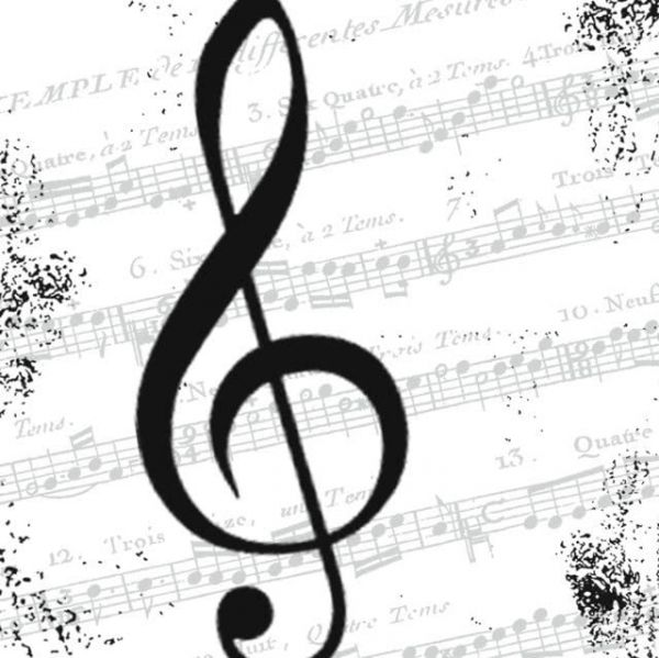 Serviette I love Music