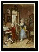 Kunst-Klappkarte Mozart und Aloysia Weber