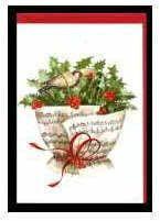 Weihnachts-Klappkarte Weihnachtlicher Notenstrauß