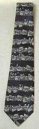 Krawatte Bach Notenschrift schwarz