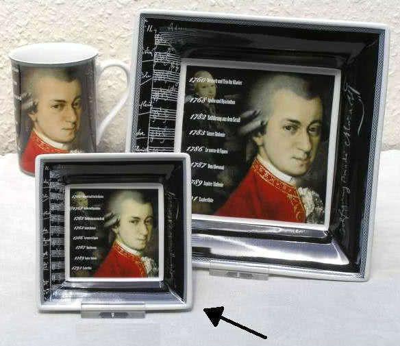 Schale Mozart Biographie 10x10cm