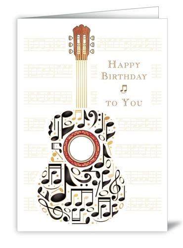 Glückwunskarte Happy Birthday Gitarre
