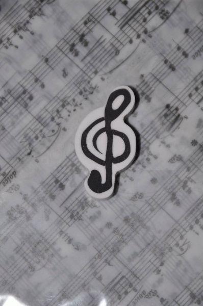 Radiergummi Violinschlüssel weiß