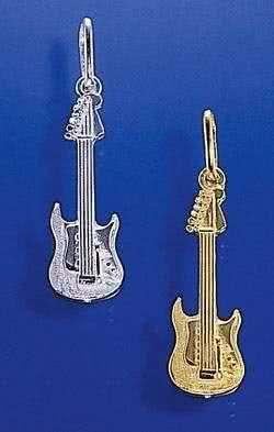 kleine Elektro-Gitarre als Nadel