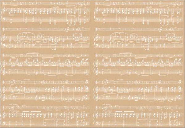 Geschenkpapier Musik sheet weiß
